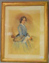 Victorian School, Mrs. Pantin of Blackheath, watercolour, dated 1854
