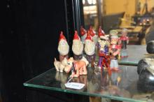 Celluloid figures of Popeye, Pluto, three dwarves and a sailor; four other items