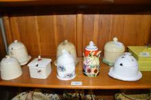Nine porcelain or pottery honeypots including Beswick, Burleighware; Woods Ware and modern examples (10)