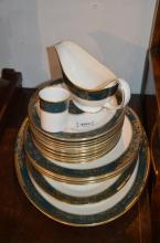 A quantity of Royal Doulton Carlyle pattern dinner wares