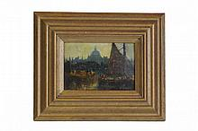 Reginald St Clair Marston (1886-1943), oil on canvas, St Paul's, 20 x 14cm