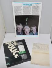 The Police - signed 1979 Reading programme and VHS video featuring Tiswas, Awards, UK video show in picture card cover from Palmer who ran the UK fan club