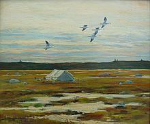 A. Albert Hochbaum Caribou Hunter's Camp near Eskimo Point