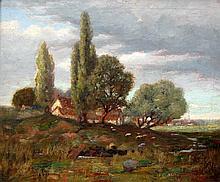 Joseph Browne Sheep in Farm Landscape