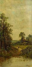 E. Cole Jnr. Figure in Cottage Lane
