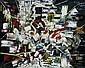 Waldemar Smolarek Abstract in White, Red & Blue