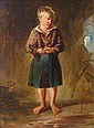 Scottish School 19th/20th Cent. Young Boy by Stream; Young Boy by Wall