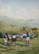 Clyde, Footballers, River Scene; Boaters
