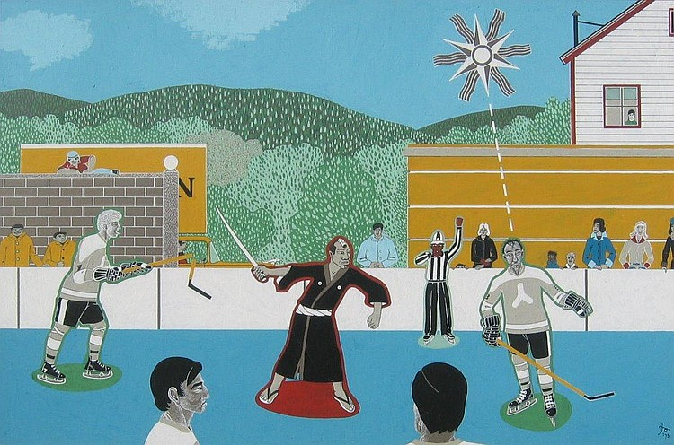 Akroyd Untitled - Hockey  &  Samurai Warrior
