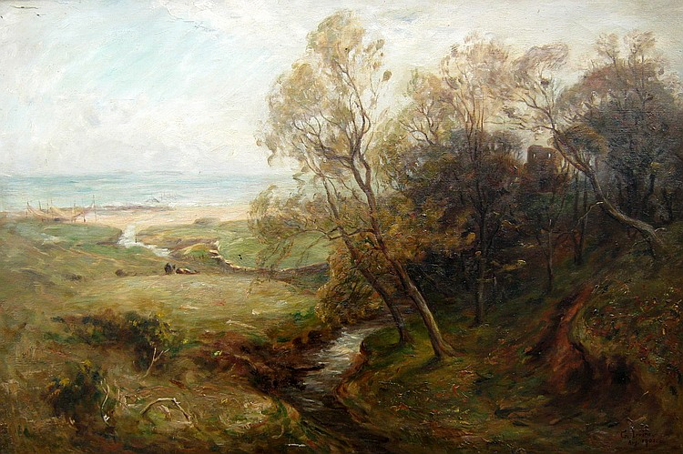G. Irvine Stream Running to Beach