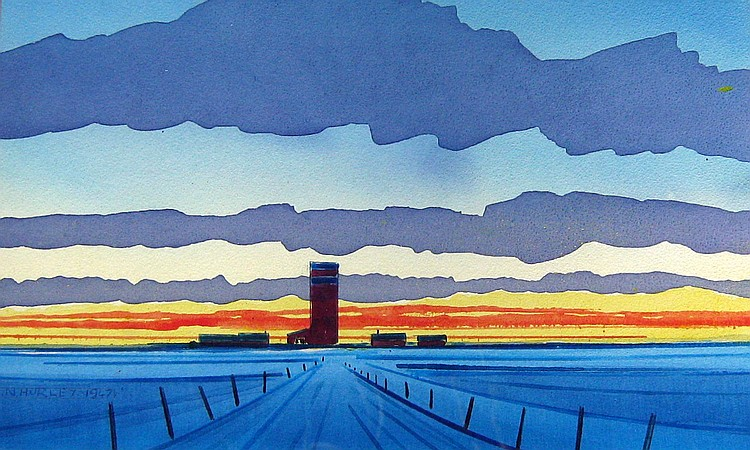 Robert Hurley Prairie Grain Silo