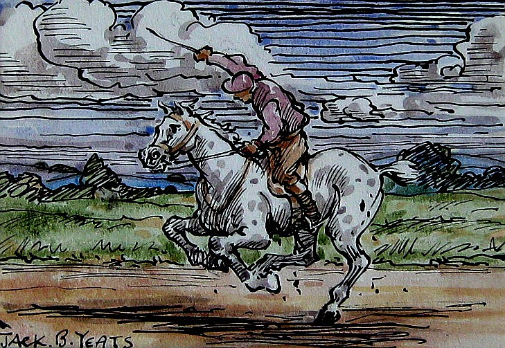 Jack Yeats (Attributed to) Horse & Rider