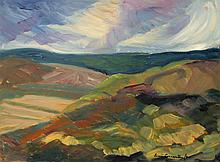Sonia Cornwall Storm Coming? Going? (Oil on panel, 12