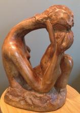 Attila Tivadar Mother and Child (sculpture, 20.5