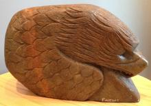 John Fine Day Eagle and Head (stone carving, 8