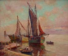 William Ward Jr. At Anchor (oil on canvas, 24