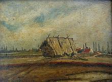 J. van der Brugghen Haystack near Dutch Village (& another)