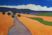 David J. Edwards Farm Road and Lavender Field