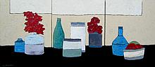 David J. Edwards Thinking of Morandi (triptych)