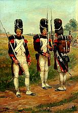 Jean-Baptiste Detaille Untitled - French Infantrymen