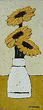 David J. Edwards Trio of Sunflowers