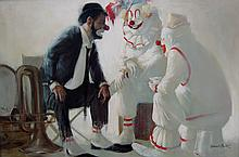 Robert Owen Three Clowns in Conversation