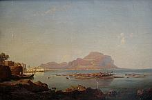 European School 19th/20th century Mediterranean Fishing Village
