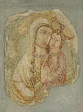 Italian School 12th century Madonna with Child