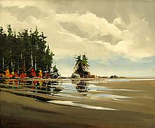 Allan Dunfield Coastal Serenity - near Qualicum Beach
