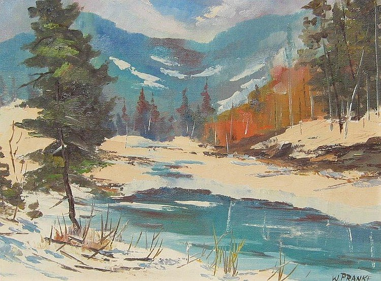 Pranke Canadian oil winter landscape