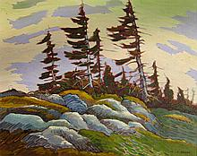 Nicholas Bott Wind, Pines & Rocks
