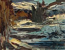 Geza/Gordon Marich Winter River Landscape