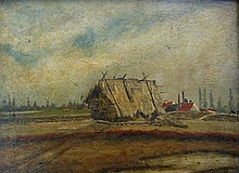 J. van der Brugghen Haystack near Dutch Village