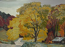 Joachim Gauthier Autumn Road, Haliburton
