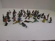 VINTAGE METAL INDIAN FIGURES