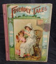 Antique Friendly Tales - 110 Nursery Primer By M.A. Donohue & Co. Chicago