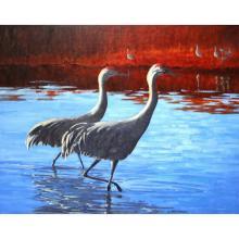 Morning Duet ~ Sandhill Cranes, by Patrice Walker