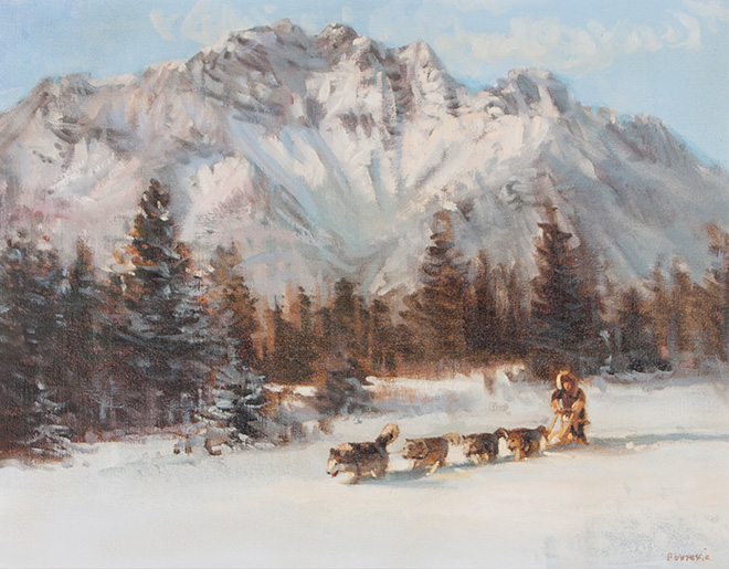 Dog Sled, by Joe Abbrescia (1936 - 2005)