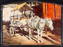 Donkey and Cart, by Newman Myrah (1921-2010)