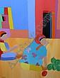 COLEMAN, TREVOR - SOUTH AFRICAN (1936-) Oil on, Trevor Coleman, Click for value