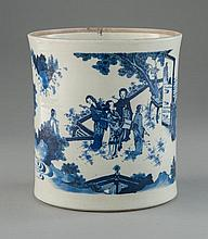 A BLUE AND WHITE BRUSHPOT (BITONG)