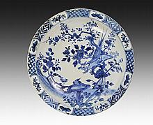 A LARGE OF BLUE AND WHITE DISH