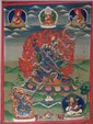 A  thangka of Mahakala Panjarnata - 19TH CENTURY