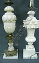Two Italian Carved Alabaster Lamps