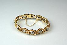 YELLOW GOLD & DIAMOND BRACELET