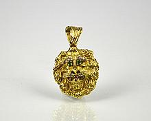 HAMMERMAN BROTHERS GOLD LION PENDANT