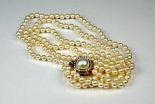 TRIPLE STRAND CULTURED PEARLS