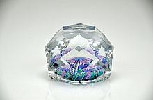 Faceted Glass Paperweight