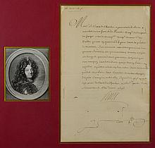 A SIGNED LETTER FROM KING LOUIS XIV FRANCE
