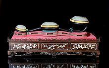 CHINESE WHITE JADE AND ZITAN RUYI SCEPTER